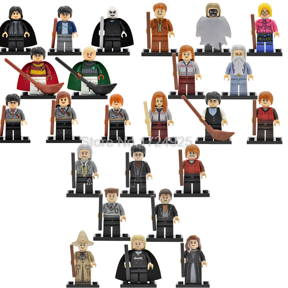8pcs/lot Harry Potter Figure Set Hermione Malfoy Ron Lord Voldemort Luna Snape Building Blocks Models Toys for Children 2pcs lot harry potter series death eater mask halloween horror malfoy lucius resin masks toy private party cosplay toys gift