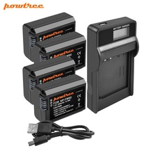 Powtree For Sony 4PCS 2000mAh 7.2V NP FW50 NP-FW50 NPFW50 Camera battery +  LCD Charger Alpha a6500 a6300 a7R II a7II NEX-5N