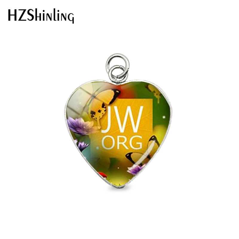 New Handmade Pendants Flower JW.ORG Round Glass Dome Jehovah Pictures Stainless Steel Charms Women Men Gifts Jewelry