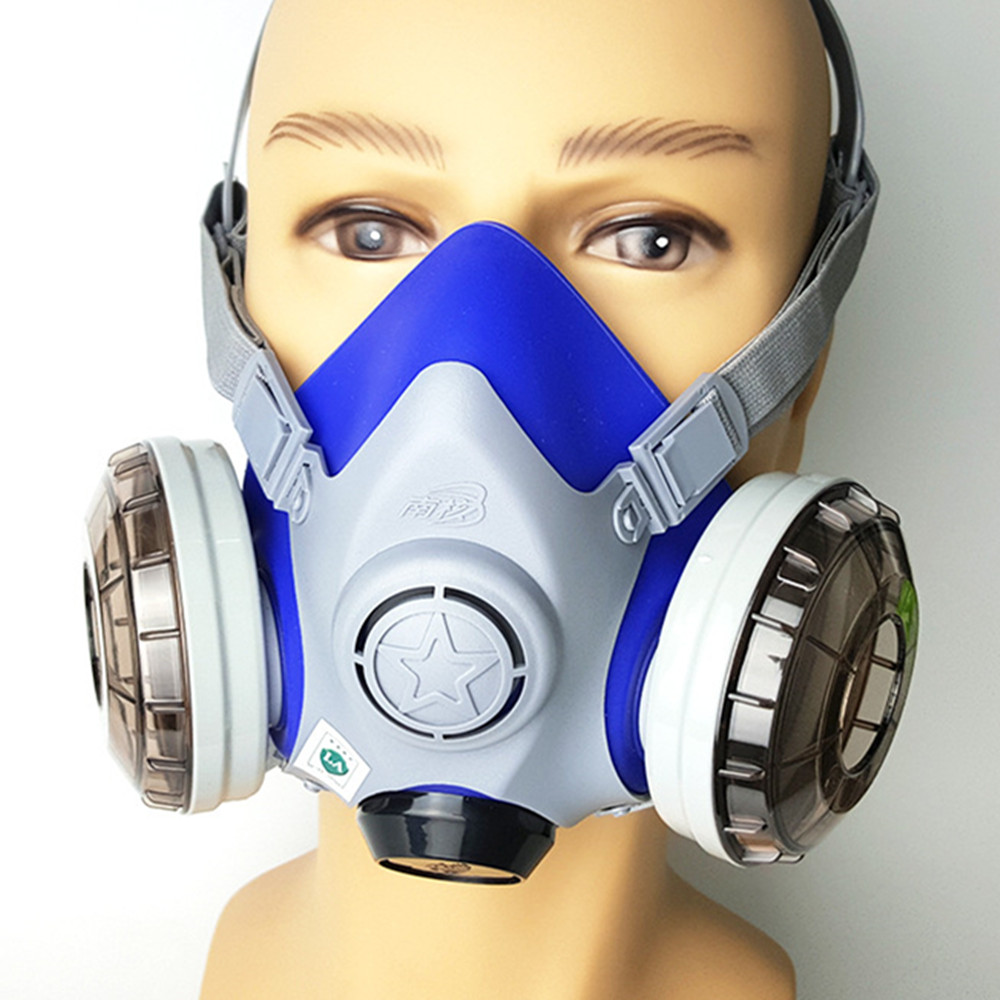 Pro Gas Mask Silica Dual Filter Cartridge Anti-dust Anti PM2.5 Industrial Construction Dust Haze  Pesticide Spray Paint Mask 50pcs high quality dust fog haze oversized breathing valve loop tape anti dust face surgical masks