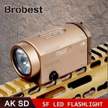 цены AK47 AK74 AK SD 47 74 Tactical Gun Light AK-SD TWPS Weapon LED Flashlight Fit 20mm Picatinny Rail Momentary Strobe Output