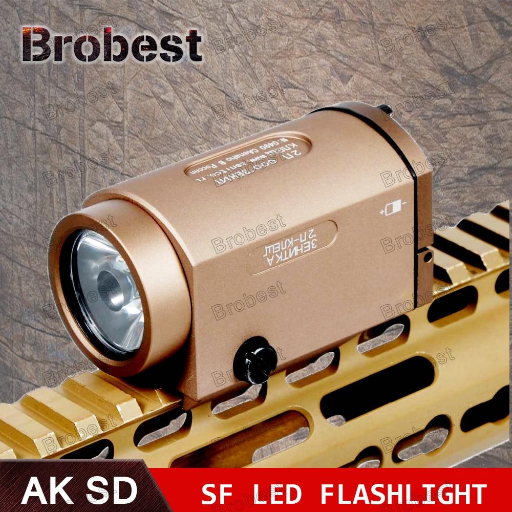 AK47 AK74 AK SD 47 74 pistola táctica luz AK-SD TWPS arma linterna LED ajuste 20mm carril Picatinny salida estroboscópica momentánea