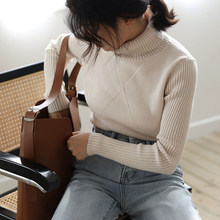 basic chic Autumn winter thick Sweater Pullovers Women Long Sleeve casual warm turtleneck Sweater female knit Jumpers top(China)