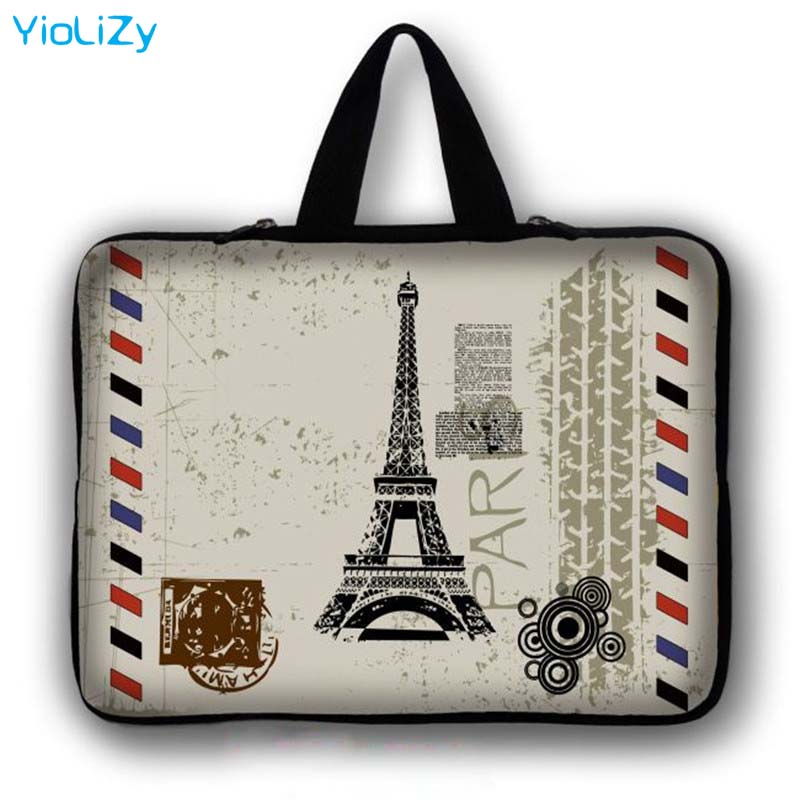 Eiffel Tower print Laptop Bag tablet protective case 7 9.7 12 13.3 14.1 15.6 17.3 inch waterproof Notebook sleeve cover LB-24560