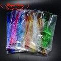 Real Sissi 9 colores opcionales 3 paquetes de Flashabou de oropel de Flash oropel fibras pike mosca streamer volar atar materiales