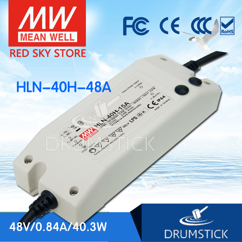 цена на MEAN WELL HLN-40H-48A 48V 0.84A meanwell HLN-40H 48V 40.3W Single Output LED Driver Power Supply A type