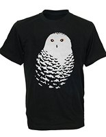 Tailored Shirt Shop Selling O Neck Short Sleeve Mens Bird Nature Owl Feather Dark Night Men