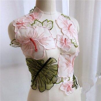 5795e4342 3D flor perla bordado coser apliques para vestido de noche ropa Diy telas  de encaje y accesorios de decoración Material de parche. US  9.00. 1  Unidades ...