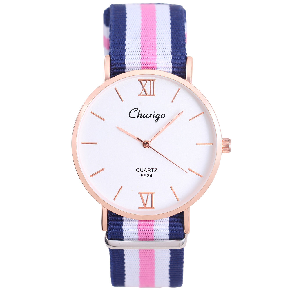 Top Brand Watches Men Women High Quality Nylon Leather Rose Gold Silver Clock 40cm Relogio Masculino