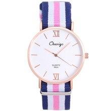 Top Brand Watches Men & Women High Quality Nylon Leather Rose Gold Silver Clock 40cm Relogio Masculino Femme Chaxigo Brand