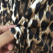 Leopard Print Maxi Dress with Side Split