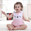 Estilo de verano Ropa Para Bebés de Algodón Suéter Sin Mangas Mono de La Manera del Cuerpo Del Bebé Recién Nacidos Niños Niñas Ropa Bebes