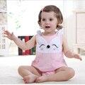 Estilo verão Bodysuit Do Bebê Do Algodão Pulôver Sem Mangas Macacões Da Moda Corpo Do Bebê Meninos Recém-nascidos Meninas Roupas Bebes