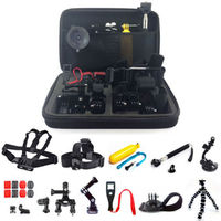 26in1 Head Chest Mount Floating Monopod For Gopro Accessories Hand Monopod With Case Bag For Sj4000 Sj5000 Sj6000 Sj7000