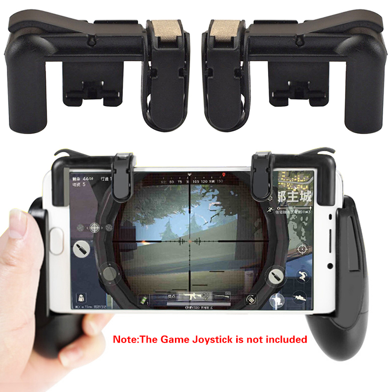 2PCS Mobile Phone Gaming Trigger L1R1 <font><b>Shooter</b></font> Controller for PUBG Knives Out Rules of Survival Controller <font><b>Shooter</b></font> Fire Button image