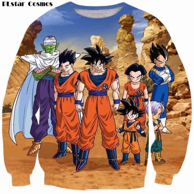 86e573529 Classic Dragon Ball Z Super Saiyan Sweatshirt Men Women Anime Goku Vegeta  Piccolo 3D Long Sleeves