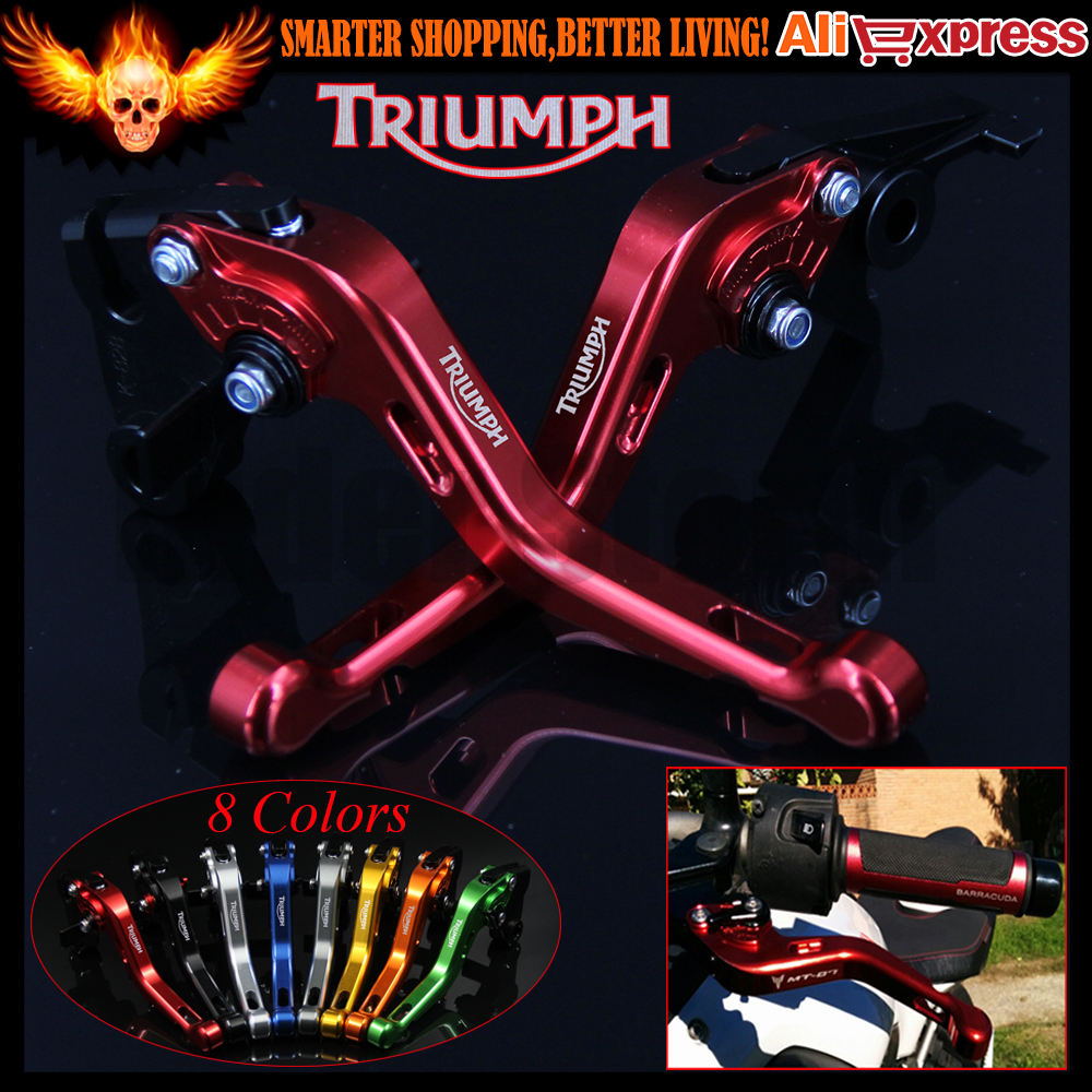 ФОТО New Red 8 Colors CNC Aluminum Motorcycle Short Brake Clutch Levers For Triumph SPEED TRIPLE 1050 2011 2012 2013 2014 2015