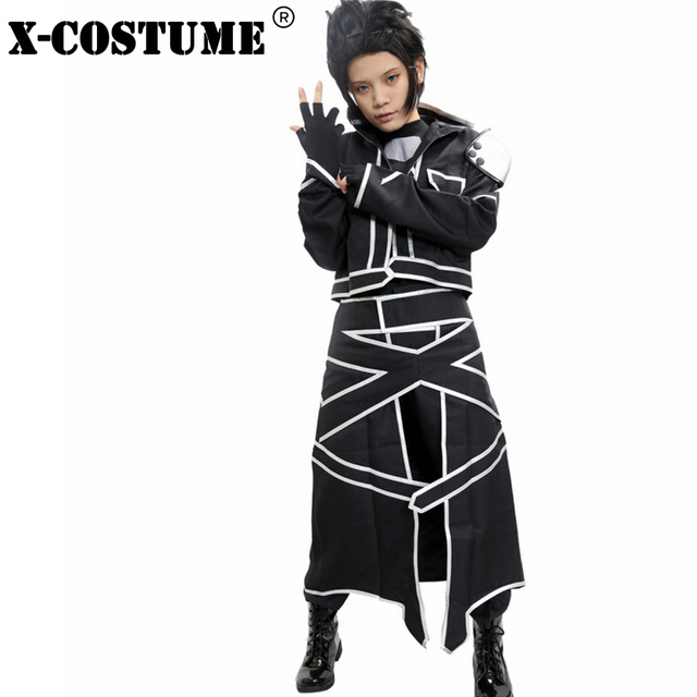 X COSTUME Sword Art Online ALO Fairy Dance Kirito Anime Cosplay Costumes  Cool Pleather Suit For Halloween Party For Woman Female