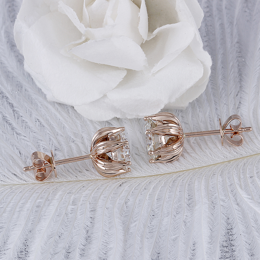 moissanite earrigns rose gold (6)