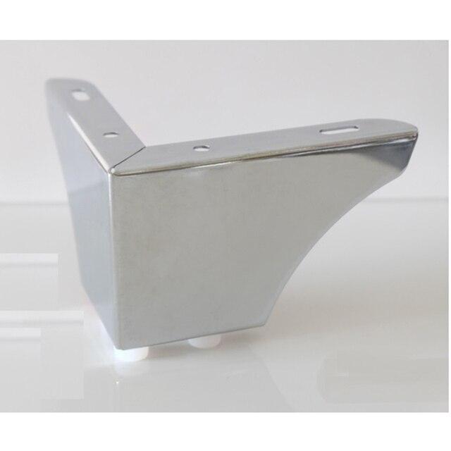 4Pcs/Lot Chrome European Concise Furniture Bath Coffee Stool Bar Sofa Chair Leg Legs Feet