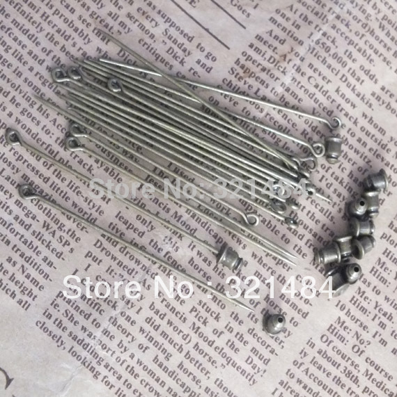 bulk 500pcs 60mm antique bronze sharp tip safety pins with stopper brooch diy jewelry beads makig findings