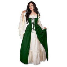 Fashion 2018 Autumn Gothic Victorian Ball Gown Dress Renaissance Wench  Halloween Vacation Bandage Party