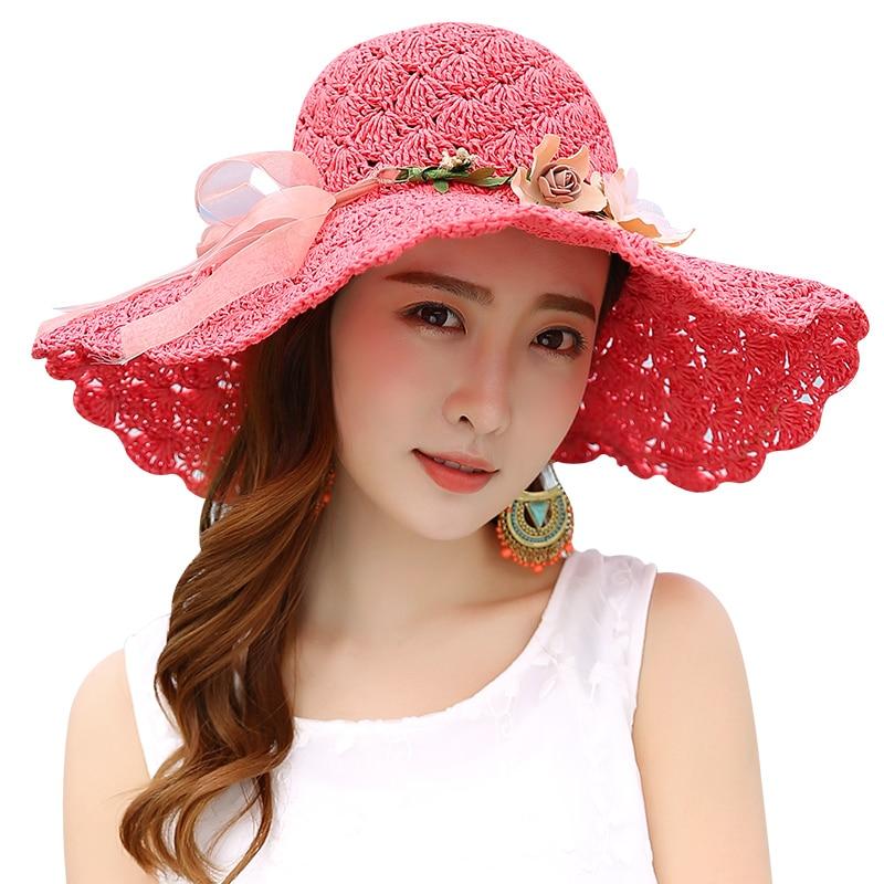 2018 Jauna vasaras saules cepure platā malā pludmales saules - Apģērba piederumi
