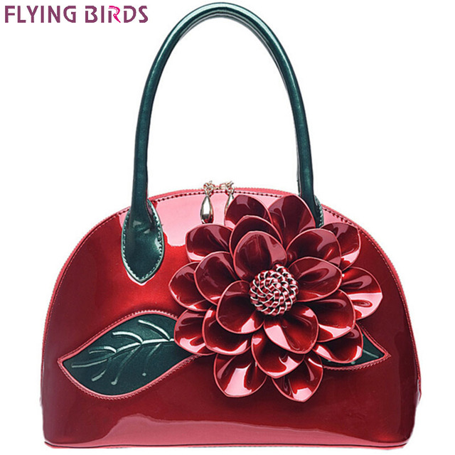 FLYING BIRDS! 2016 women handbag designer wedding tote women leather handbags bolsas bag flower summer women's pouch  LM3028fb