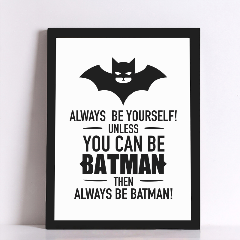 Batman Quote Canvas Art Print...