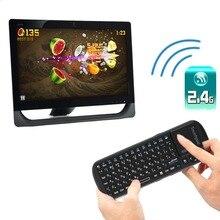 Новый мини 2.4 г Беспроводной клавиатура воздуха мышь сенсорная панель LED Русская версия для ПК ТВ оптовой