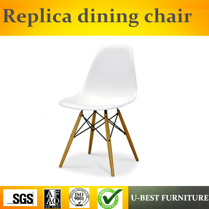 Free shipping U-best Dining room side cheap plastic dining chair in white  for restaurantFree shipping U-best Dining room side cheap plastic dining chair in white  for restaurant