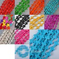 """Free shipping 12x16MM Turquoise Howlite Loose Beads Cross 15.5""""Jewelry Selected Colors"""