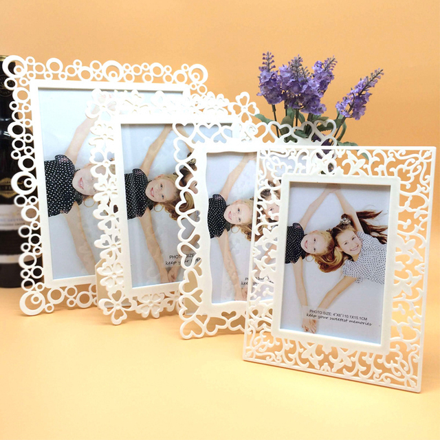 Pvc Hollow Simple Vertical And Horizontal Photo Frame 7 Inch Wedding