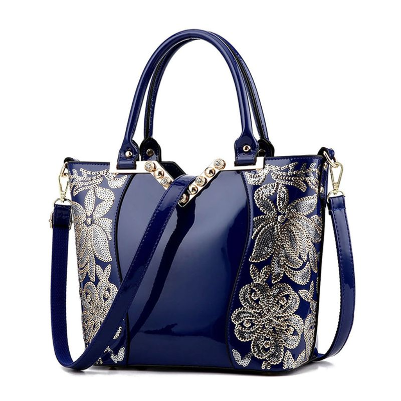 High Quality Women Ladies National Style Embroidery Crossbody Shoulder Bag Tote Messenger Leather Satchel Handbag
