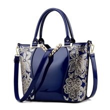High Quality Women Ladies National Style Embroidery Crossbody Shoulder Bag Tote Messenger Leather Satchel Handbag