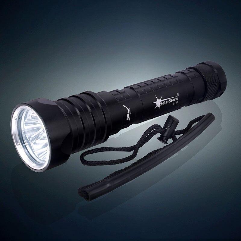 High Power 6000 Lumens CREE XM-L2 3-mode 100M LED Dive Lamp Scuba Diving Flashlight Waterproof Underwater Hunting Light 26650 стоимость