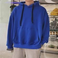 Fashion 2019 Spring Streetwear Personality Kangaroo Pocket Stripe Split Cap Joint Behind Vented Sweatshirts Men Hoodies Male kangaroo pocket split side dress