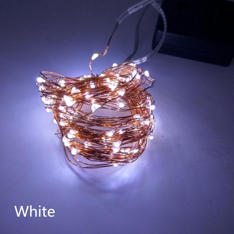 10M 100 LED Solar Power LED String Fairy Light Christmas Party Garden - Pencahayaan perayaan - Foto 3
