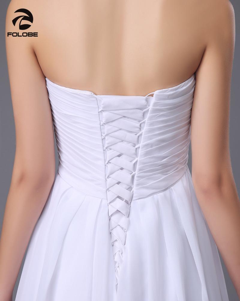 Vestido De Novia 2017 Custom Made White/Ivory Chiffon Applique Beading Lace Beach Wedding Dress Bridal Gowns 4