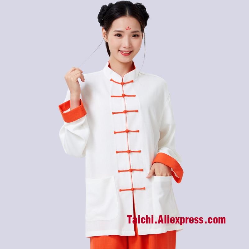 Male Female Handmade Linen Tai Chi Uniform Kung Fu Martial Art Suit  Chinese Stlye Sportswear Wing Chun Uniform