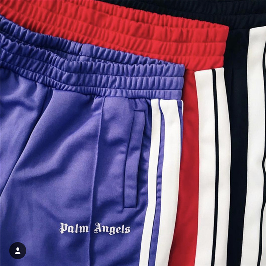 Palm Angels Pants Women Men 1:1 High Quality Joggers Hip Hop Streetwear Rainbow Exclusive Drawstring Sweatpants Trousers(China)