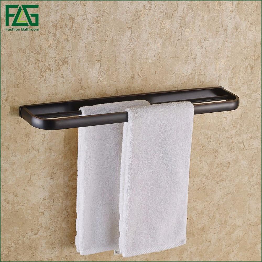 FLG Wall Mounted Bathroom Accessories towel holder black towel bar double towel bar flg bathroom accessories wall mounted tumbler holder cup