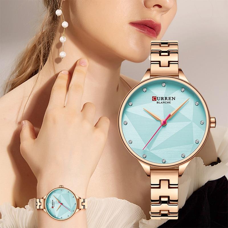 CURREN Top Brand Women Watch Fashion Design Analog Quartz Watches Women's Dress Bracelet Clock Ladies Simple Girl Wrist Watches