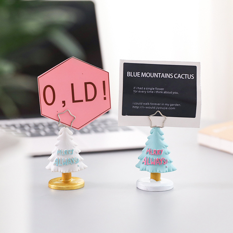 Coloffice Creative Christmas photo Clip Memo Clip stationery card Holder Business Card Memo Photo Clip Desktop Decoration 1piece