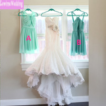 Two Style Mint Green Bridesmaid Dresses with Halter Pleats Chiffon Cheap Vestidos Pageant Party Dresses for Wedding A-line