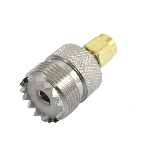 EDT- UHF SO-239 F to SMA M Female/Male Straight Coaxial Coupling Adapter Plug