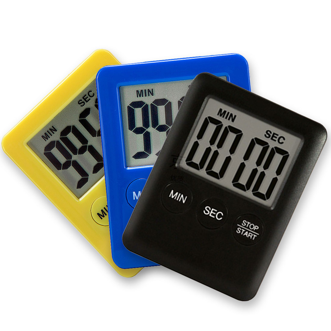 1Pc Electronic LCD Digital Screen Kitchen Timer Square Cooking Count Up Countdown Alarm Magnet Clock 99 Minute