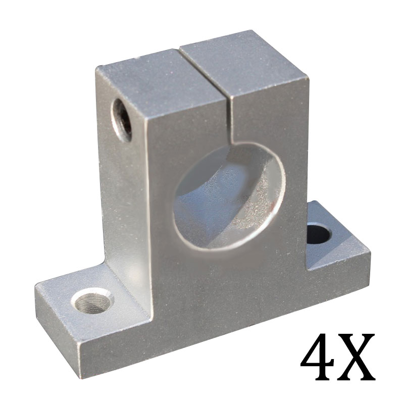 4PCS 12mm Linear Rail Shaft Support Block for Cnc Linear Slide Bearing Guide Tool Parts CLH 2pcs lot sk35 35mm linear rail shaft guide support cnc brand new