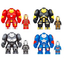 ML-K44 Super Heroes Marvel Avengers Iron Man Hulkbusters Model Figure Blocks Compatible Building Brick Toys For Children цены онлайн