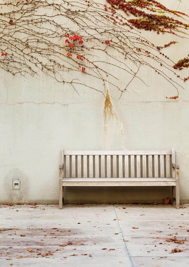 Foto Background Studio Street Bench Retro Backdrop